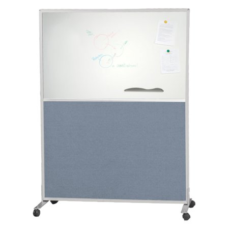 Blue Best Rite Double Sided Fabric & Markerboard Office Partition/Room Divider - 3W x 6H ft.