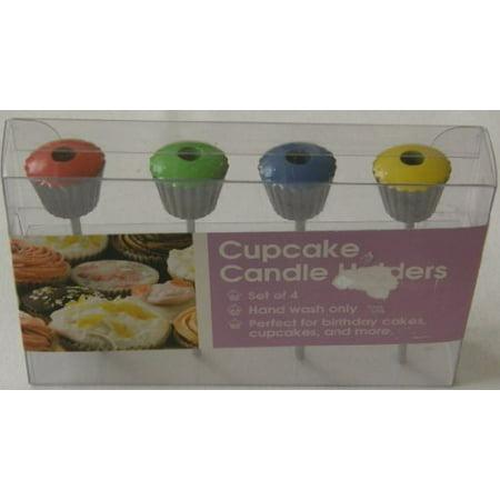 Metal Cupcake Candle Holders Set Of 4