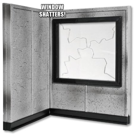 Breakable Window and Wall Playset for WWE Wrestling Action Figures ()