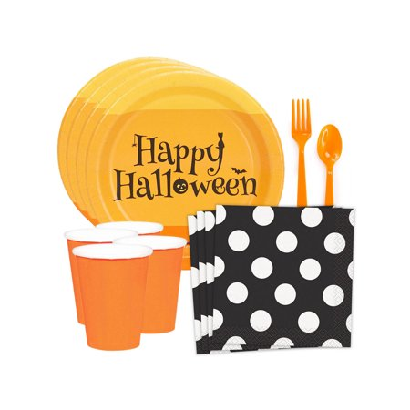 Happy Halloween Standard Tableware Kit (Serves 8)](Happy Halloween Miami Dolphins)