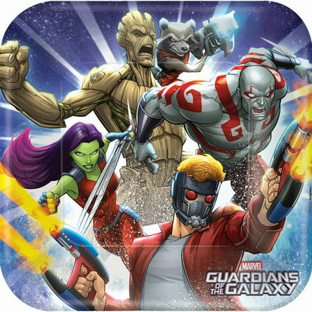 Square Dessert Plate 9  8 Pkg   Guardians Of The Galaxy 2
