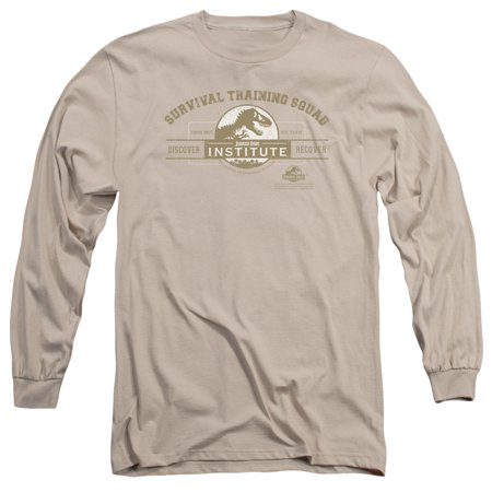 Jurassic Park Dinosaur Movie Survival Training Squad Adult Long Sleeve T-Shirt