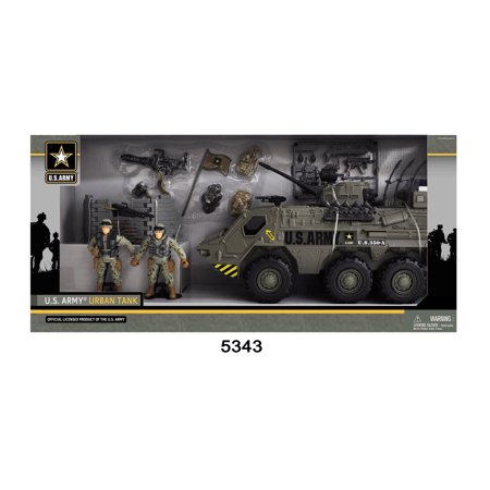 U.S. Army Tank Playset W/ Light and - Toy Army Guns