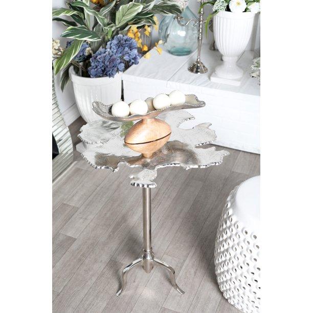 Decmode - Modern 27 x 27 inch irregular-shaped silver aluminum