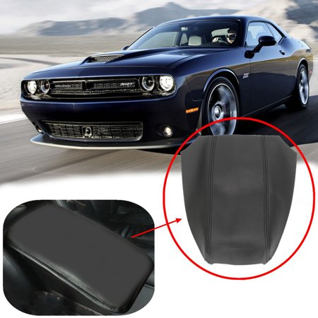 Black PU Leather Armrest Center Console Lid Cover FOR Dodge Charger 2008-2010 US - image 8 de 8
