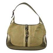 Gucci Olive x Gold Jackie-O Hobo Ggtl48 Shoulder Bag