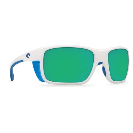 Costa Del Mar White With Blue Logo Square (Promotional Sunglasses With Business Logo)