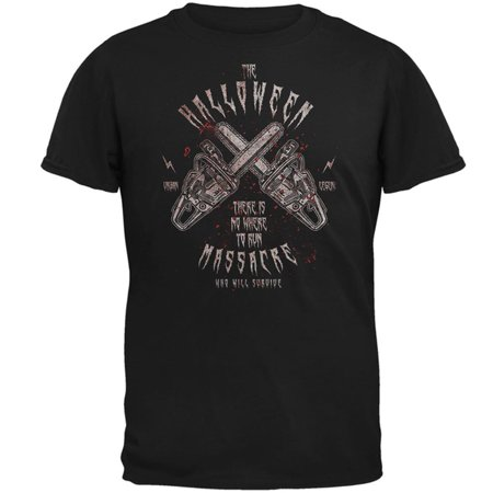 Halloween Chainsaw Massacre Bloody Horror Mens T Shirt](Halloween Horror Nights Chainsaws)