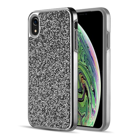 watch 46701 115b4 Iphone XR Diamond Platinum Collection Hybrid Bumper Case