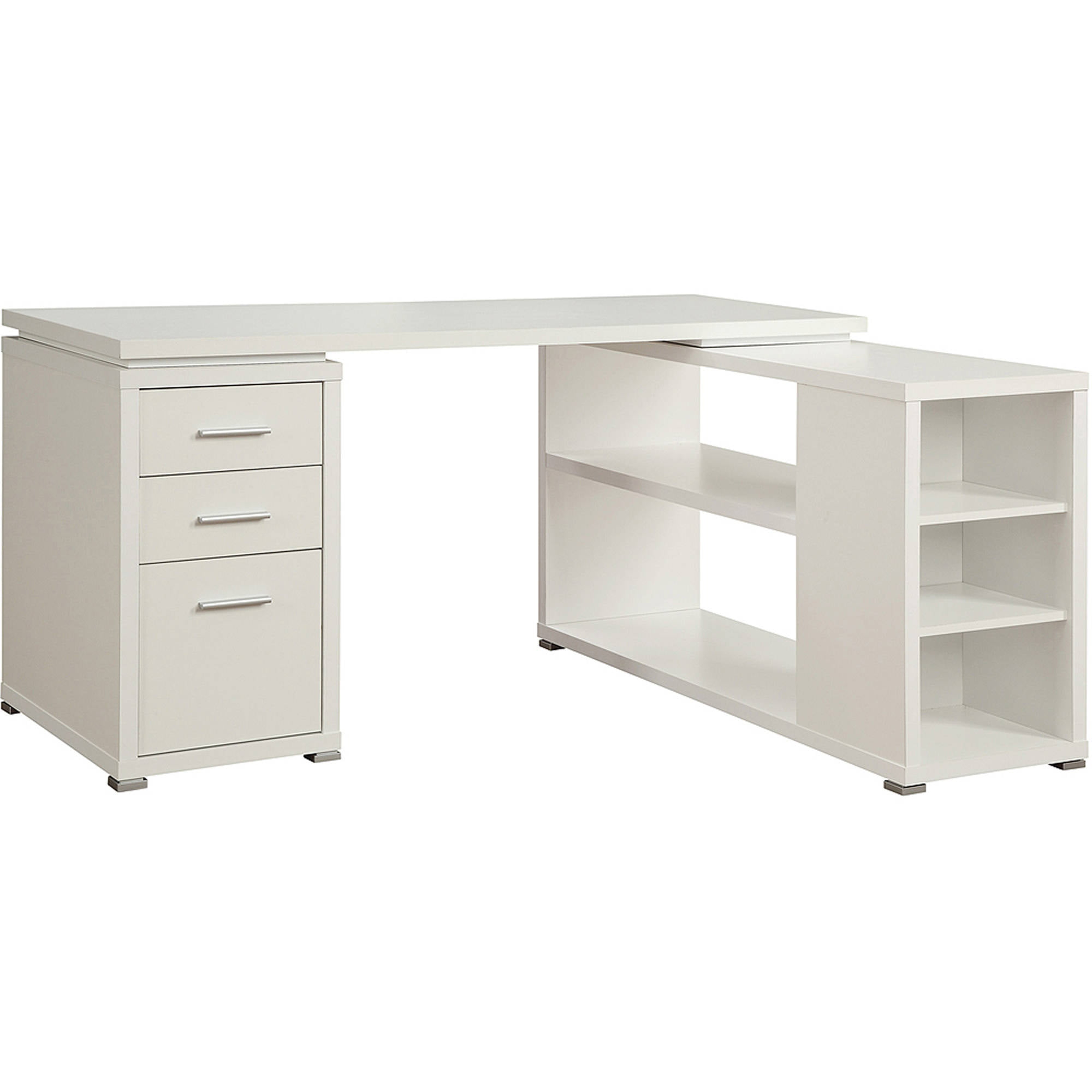 office desk walmart. Coaster Yvette Collection L-Shaped Reversible Desk, Multiple Colors -  Walmart.com Office Desk Walmart
