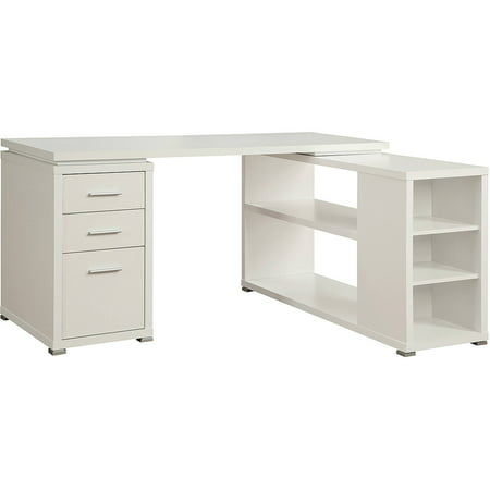Coaster Yvette Collection L-Shaped Reversible Desk, Multiple Colors ()