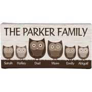 """Personalized 5"""" x 11"""" Animal Family Canvas, Available in 2 Styles"""