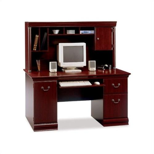 Bush Birmingham Computer Desk & Hutch