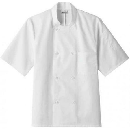 Five Star 18001 Adult's SS Chef Jacket White Large (Chefs Coat)