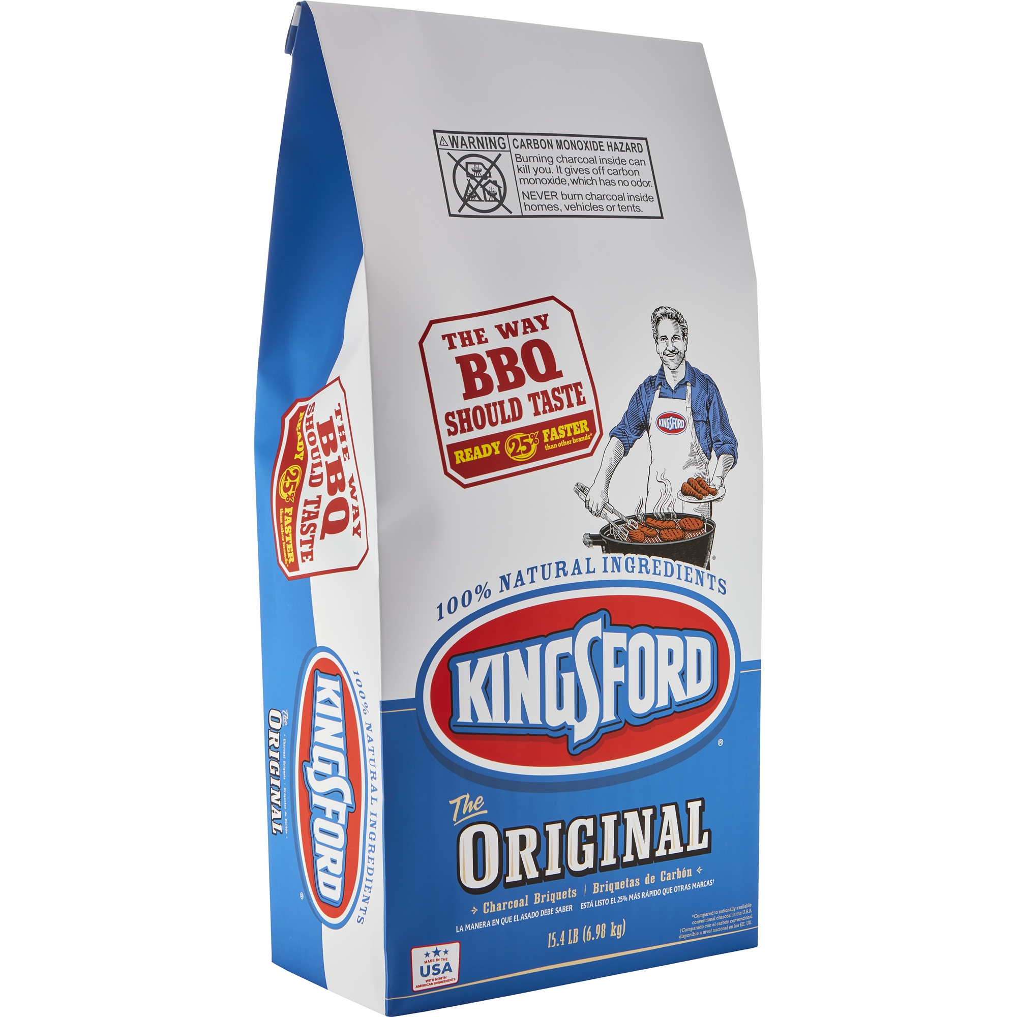 Kingsford Original Charcoal Briquettes, 15.4 lb Bag