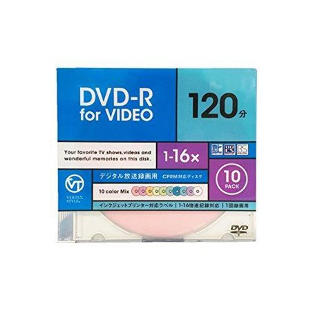 VERTEX DR-120DVCMIX.10CA DVD, R for Terrestrial Digital Broadcast Recording (Digital Broadcast Recording)