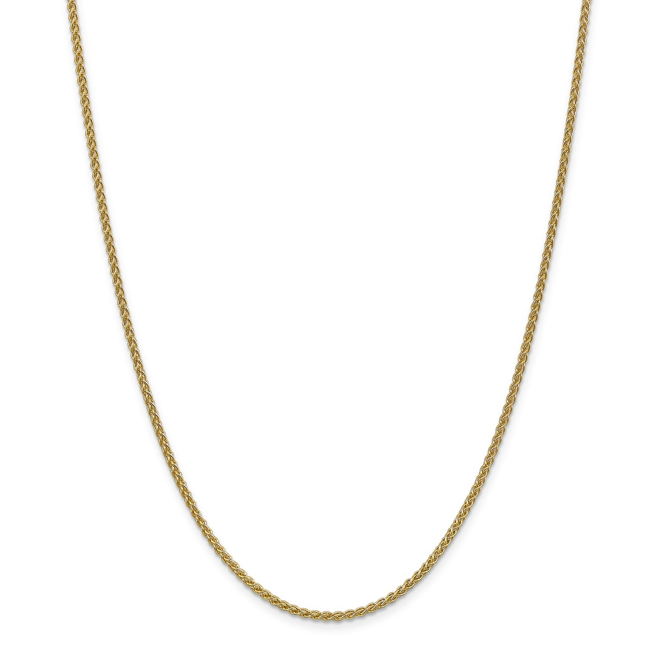 Lex & Lu 14k Yellow Gold 2.00mm Spiga Chain Necklace or Bracelet by