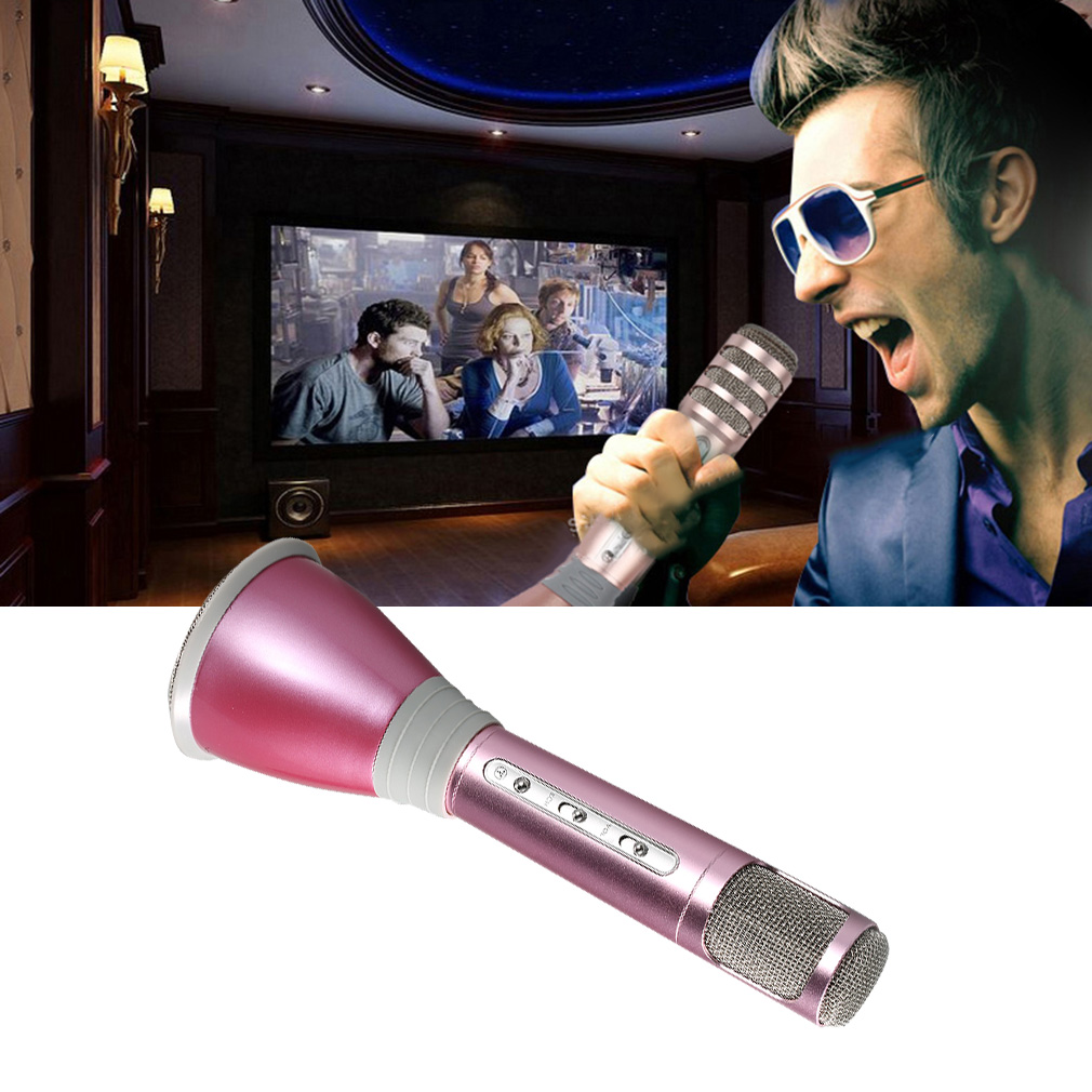 Professional K068 Wireless Bluetooth Metal HandHeld Microphone Karaoke Gifts