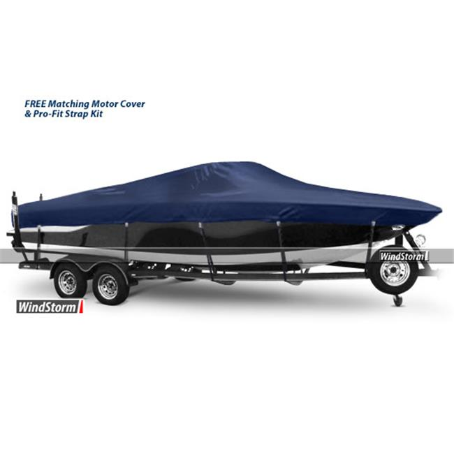 Eevelle WSVCC2596 Black WindStorm Semi-Custom Boat Cover Manufactured by EevelleV-Hull Center Console Fishing Boats With