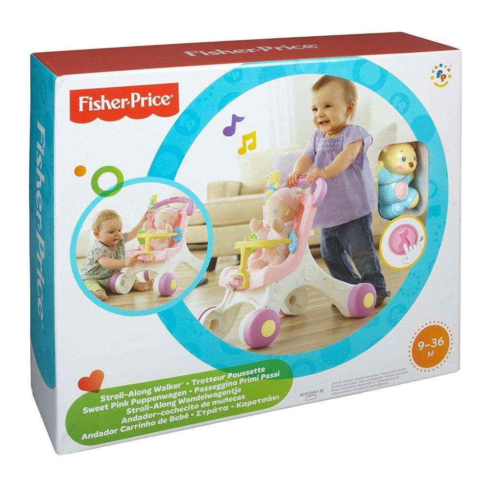 Fisher Price Trotteur fisher-price brilliant basics stroll-along walker - walmart