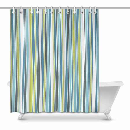POP Ripple Pattern in Nuance Colors Cheerful Bathroom Shower Curtain Set 60x72 inch - image 1 of 1