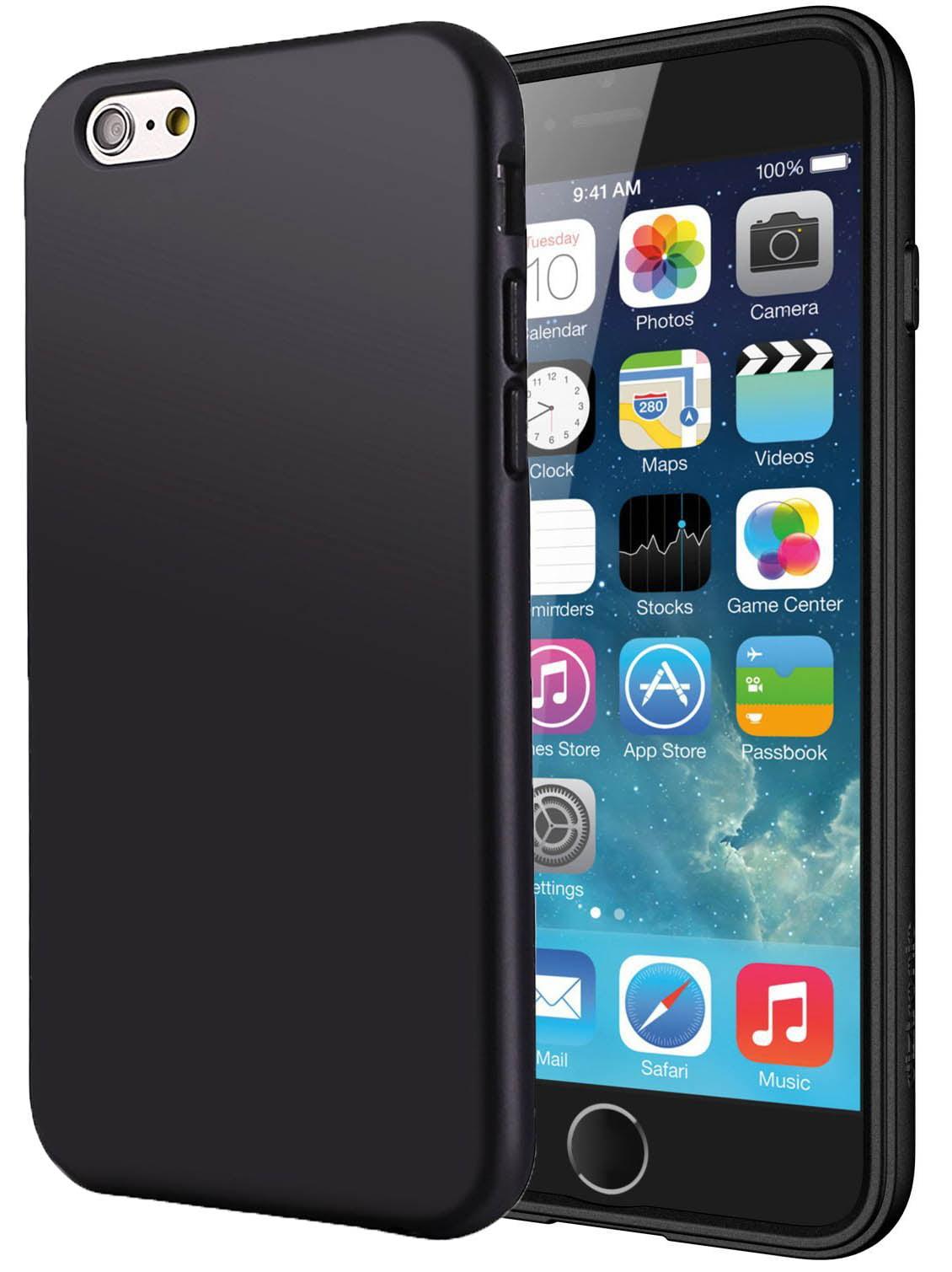 online store bcc3c 73ff1 iPHONE 6 PLUS CASE, MATTE BLACK FLEXIBLE TPU SKIN CASE SLIM COVER FOR APPLE  iPHONE 6 PLUS, 6s PLUS, 5.5