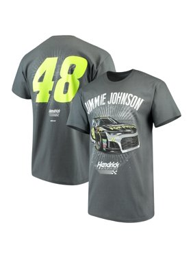 Jimmie Johnson Checkered Flag Lowe's Driver T-Shirt - Charcoal