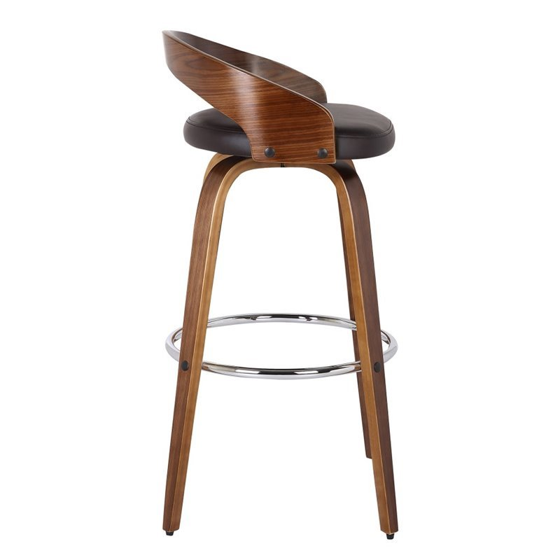 "Maklaine 26"" Faux Leather Counter Stool in Brown - image 2 of 6"
