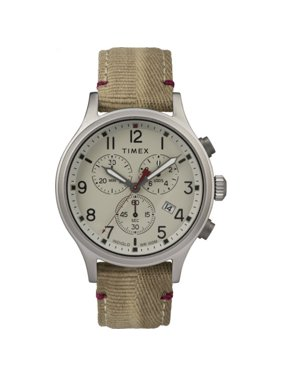 Timex Men's Allied Chronograph 42mm Khaki Fabric Strap| Watch TW2R60500