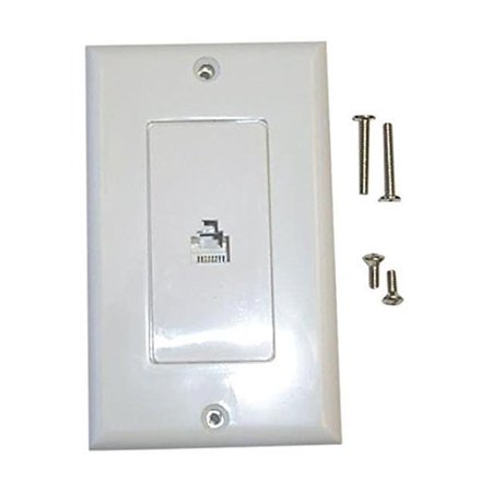Black Point Products BT-065 WHITE Decorator Style Jack Point Wall Plates - image 1 of 1