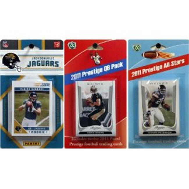 C & I Collectables 2011JAGSTSC NFL Jacksonville Jaguars Licensed 2011 Score Team Set With Twelve Card 2011 Prestige