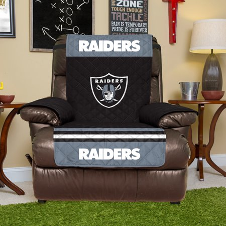 Oakland Raiders Recliner Protector - Black - No
