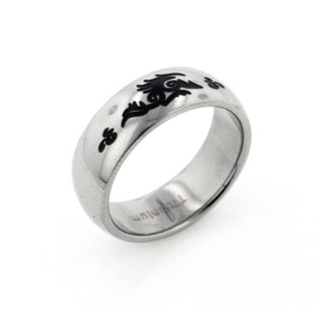 Mens Titanium Celtic Beast Artistic Tribal Dragon Band Ring - Dragon Ring Jewelry