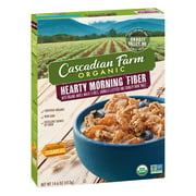 (2 Pack) Cascadian Farm Organic Hearty Morning Fiber Cereal, 14.6 oz