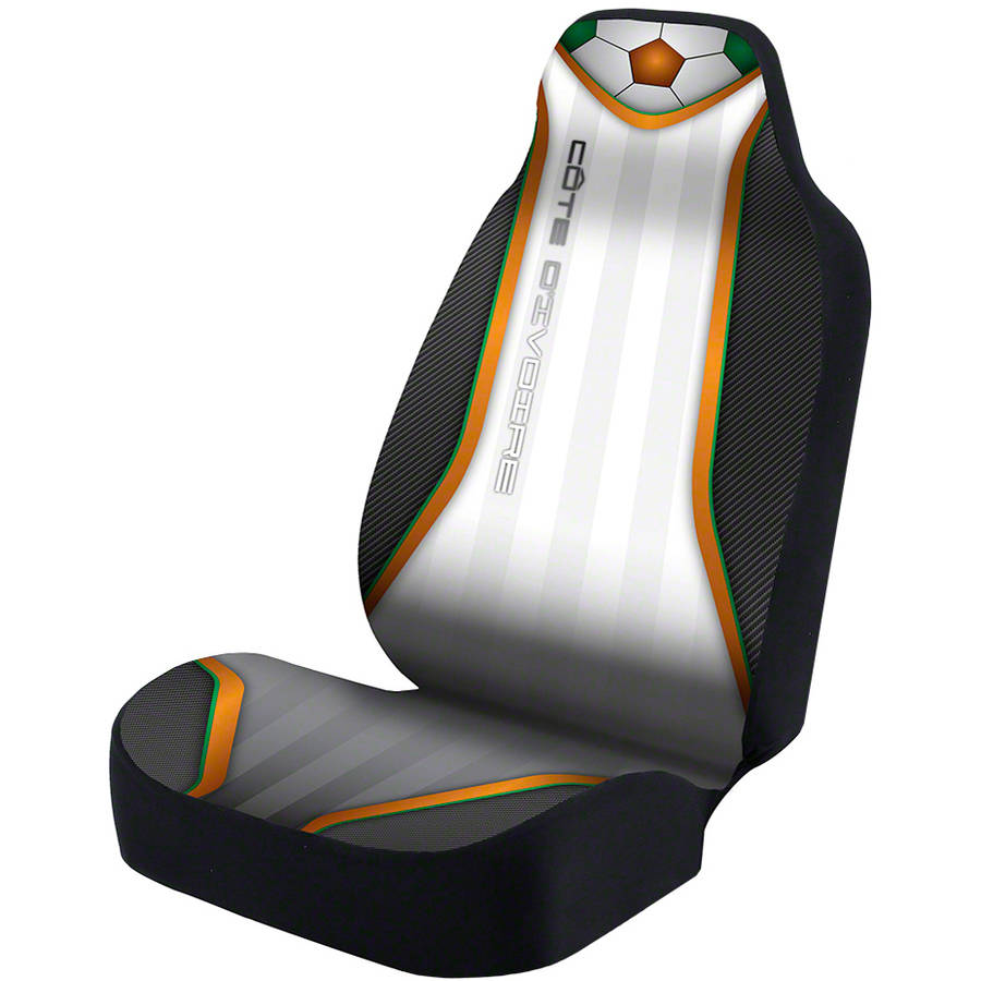 Coverking Universal Seat Cover Designer Ultra Suede, World Cup Ivory Coast