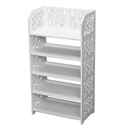 Ktaxon 5 Tier Corner Storage Organizer Standing Shoe Rack Shelf Cabinet Space