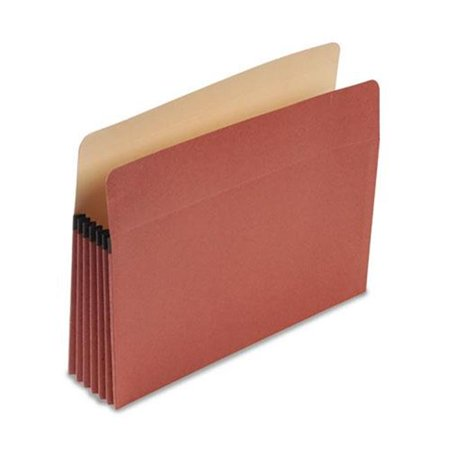 Esselte Pendaflex Corp. E1534G 100% Recycled Paper, Expansion File Pocket, 5 1/4 Expansion, Letter, Red Fiber