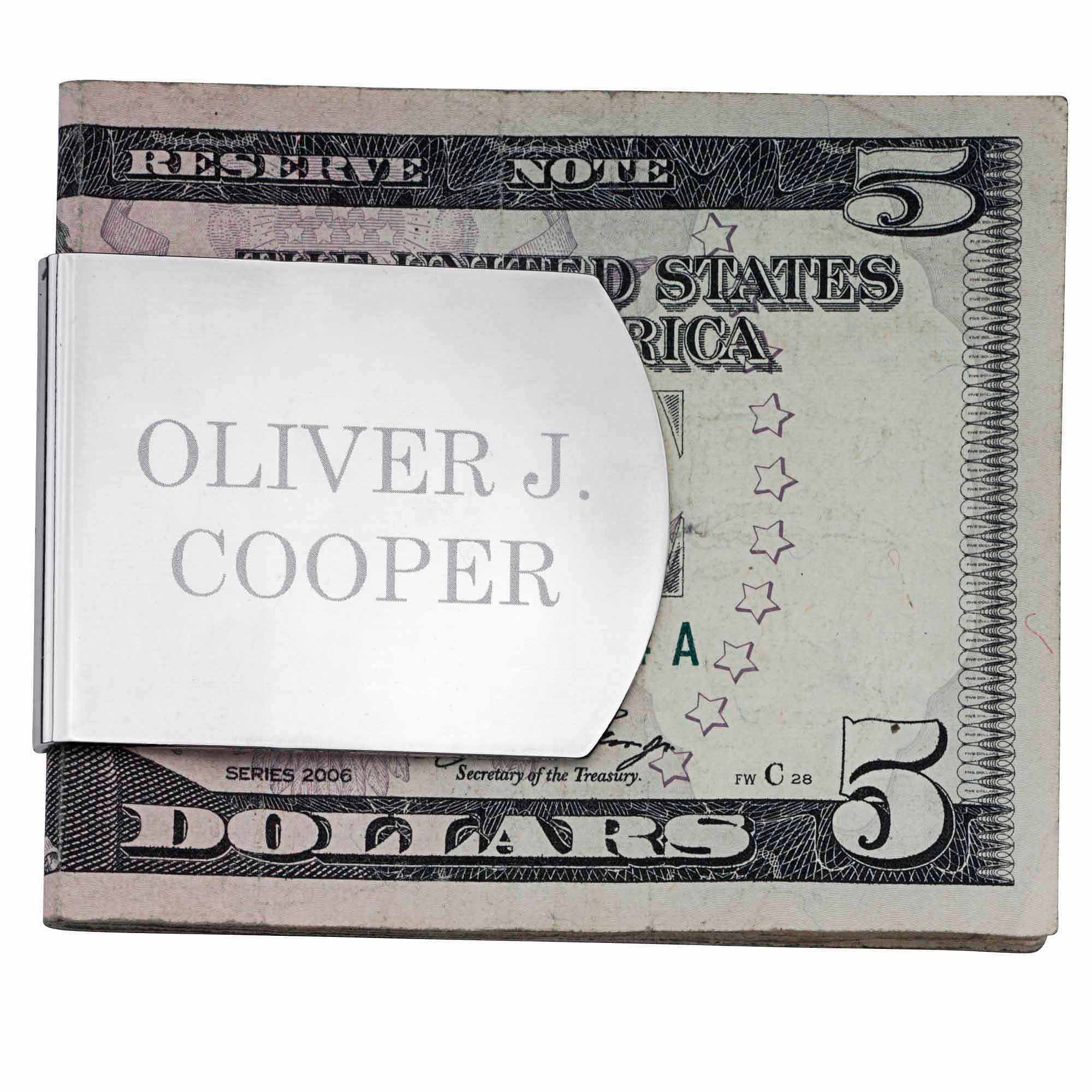 Personalized Wide Money Clip