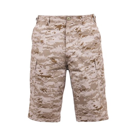 Rothco Long Style B.D.U Shorts, Desert Digital Camo,