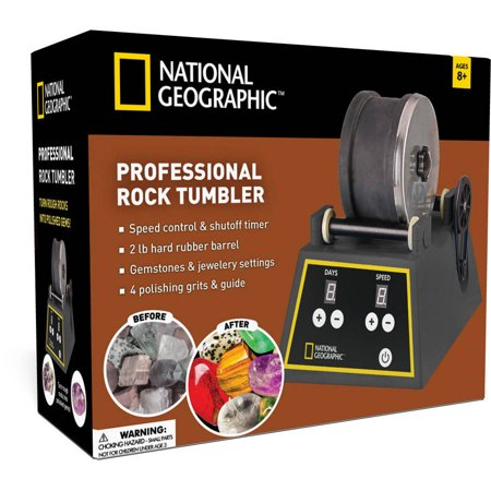 National Geographic Professional Rock Tumbler – Reveal the Sparkle in Any Stone!
