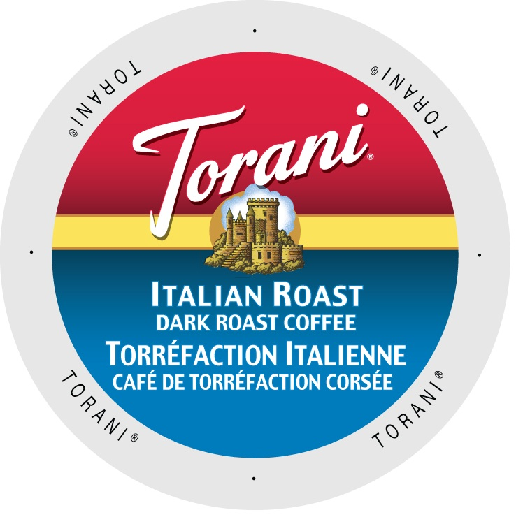 Torani Coffee Italian Roast, Single Serve Cup Portion Pack for Keurig K-Cup Brewers, 24 Count
