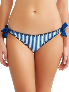d747cd4ee71 Product Image Juniors' Denim Stripe Side Tie Swimsuit Bottom