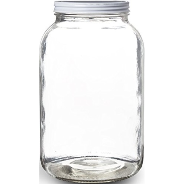 Pakkon Wide Mouth Glass Mason Jar With Metal Lidferment Store