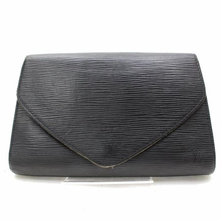 Louis Vuitton Pochette Noir Art Deco 868159 Black Leather Clutch