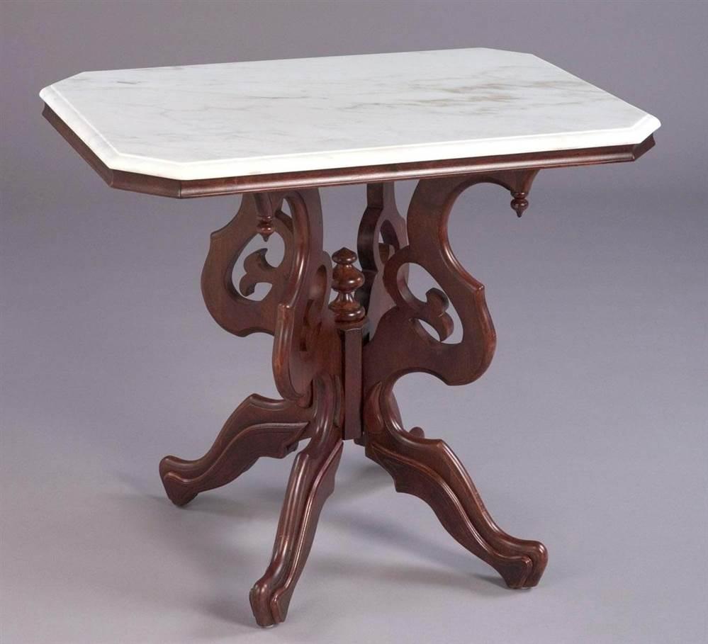 Rectangular Victorian Style Lamp Table
