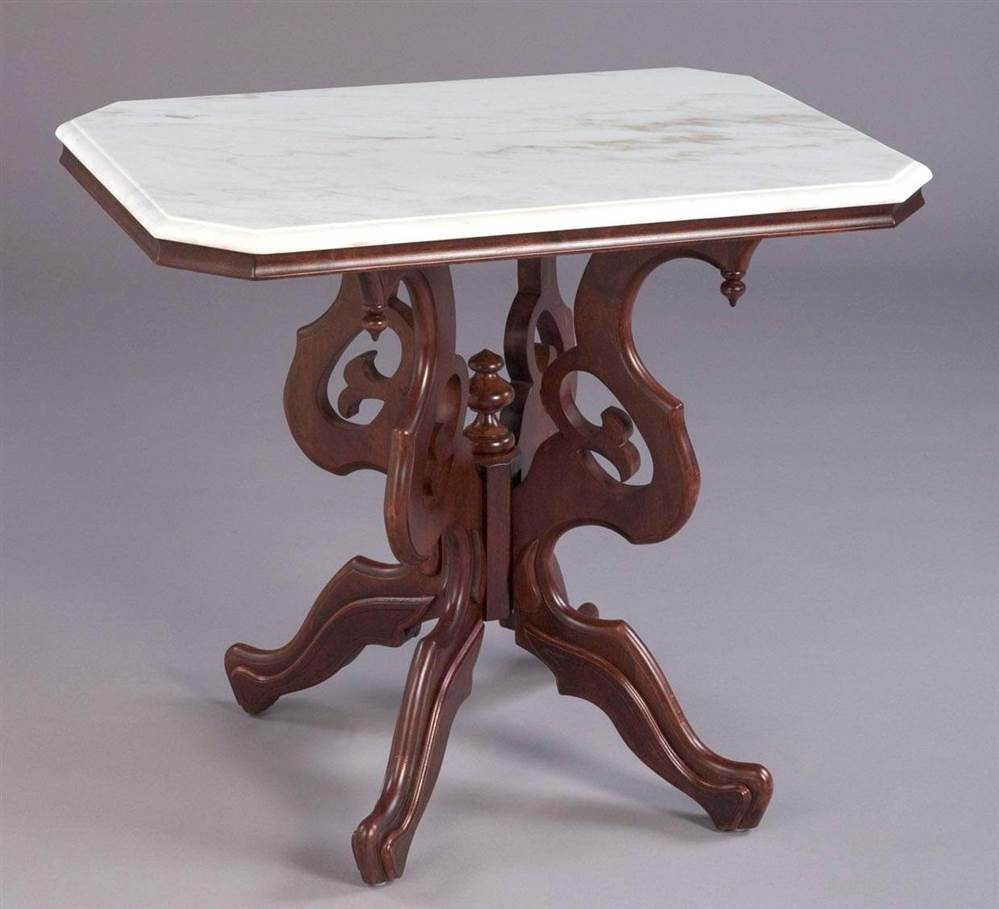 Rectangular Victorian Style Lamp Table