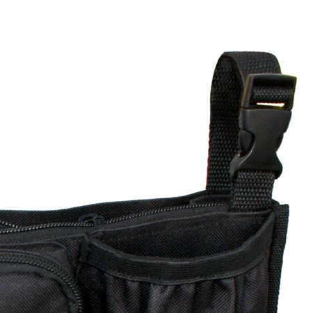 J.L. Childress Cups 'N Cargo Universal Stroller Organizer with Extra Large Storage and Mesh Compartment, Black