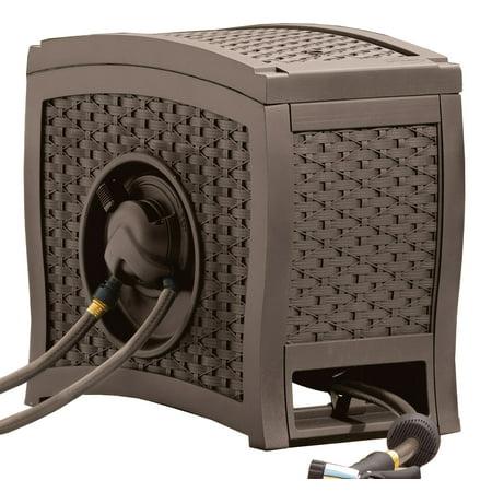 Suncast 125 ft. AquaWinder® Auto Rewind Resin Free-Standing Hose Reel, Java, RSW125D ()