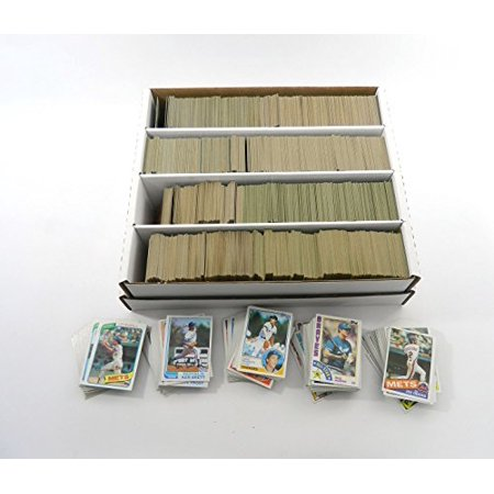 Mlb Baseball Card Collector Box With Over 3200 Cards 1980 To 1985 Topps