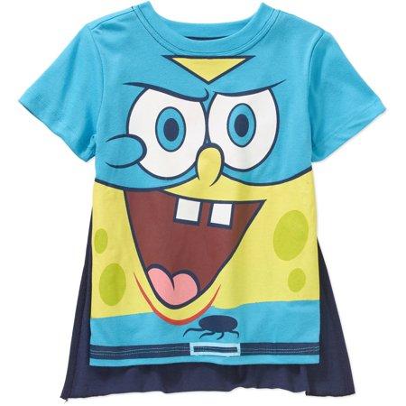 nickelodeon spongebob toddler boy short sleeve caped tee walmart com